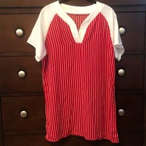 Baseball Jersey Dress or Tunic Size XL